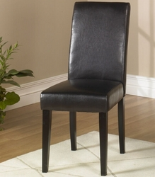 Armen Living Side Chair in Dark Brown Leather - click to enlarge