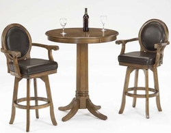Hillsdale Warrington Bar Height Table & Swivel Stools - Set of 3 - click to enlarge