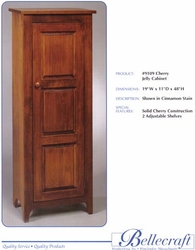 Bellecraft 3 Panel Jelly Cabinet in Cherry - click to enlarge