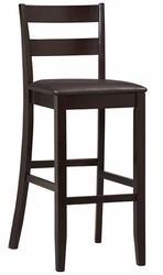 Linon Triena Soho Bar Stool in Espresso - 01867ESP-01-KD-U - click to enlarge