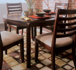 American Drew Tribecca Leg Table with Root Beer Finish - click to enlarge