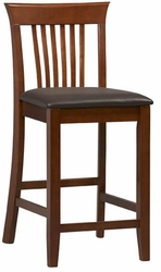 Linon Triena Craftsman Counter Height Stool - 01857DKCHY-01-KD-U - click to enlarge