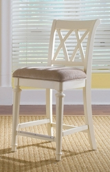 American Drew Camden White Bar Height Barstool - click to enlarge