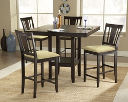 Hillsdale Arcadia Espresso 5 Piece Counter Height Dining Set - click to enlarge