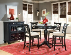 American Drew Camden Round Counter Height 5pc Table Set - click to enlarge