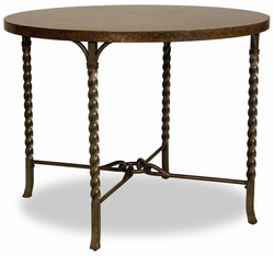 Riverside Medley Gathering Height Table with Metal Legs - click to enlarge