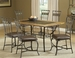 Hillsdale Lakeview 7-Piece Dining Set with Slate Chairs