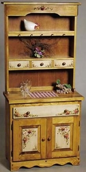 Bellecraft Flat Top Drysink & Country Hutch in Candlelight Stain - click to enlarge