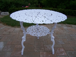 Oakland Living Scroll Bistro Table in White - click to enlarge
