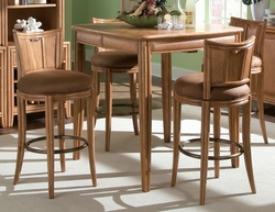 American Drew Antigua Toasted Almond 5pc Pub Table Set - click to enlarge