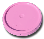 Pink 5 Gallon Plastic  Bucket Lid-3 PACK
