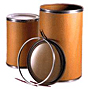 Cardboard Drums & Barrels, Open Head, Metal Chime