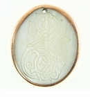 Makabibi Oval Shell Seahorse etched Copper Plated Frame