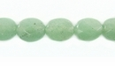 Green Faceted Oval Aventurine Beads