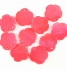 Red Flower Hammershell Beads 10mm