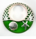 Metal Casted Green Sea Shell Resin