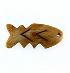 Tea-dyed Fish-bone Bone Pendants