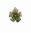 Metalcast Brass Small Flower Charm