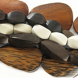 Twisted Wood Beads