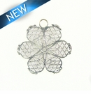 6-Piece Petal Flower Silver Finish 28x28mm