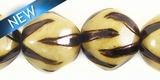 Burnt Wood Round Animal Print 15mm