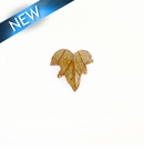 Leaf Inlay Coco Back 25mmx26mm x 5mm Thick
