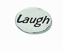 "Message Beads ""Laugh"" 11x8x3mm"