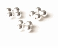 Quad Round Sterling Silver Beads 1.5x3mm