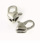 Sterling Silver Heart Shaped Clasps