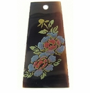 Tab Shell Kalar Blue Rose Laser Design 45x19mm