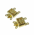 Gold Plated Snap Clasps (12pcs.)