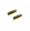 Gold Plated Tube Cord End Caps 1.8mm