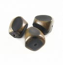 Burnt Irregular-shaped Horn Beads