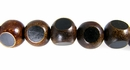 Burnt Horn Sliced 3-Dimension Round Beads 10mm