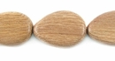 Flat Teardrop Rosewood Beads 12x16mm