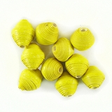 Yellow Bicone Paper Beads