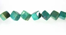 Turquoise Cube/X-Shape Beads 6mm