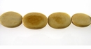 Tea Dyed Flat Oval Bone Beads 16x11mm