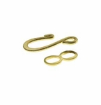 Gold Plated Hook & Eye Clasps