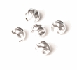 Sterling Silver Beads Twist 4mm