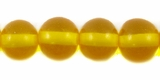 Clear Orange Round Amber Resin Beads