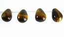 Tiger Eye Briolette Beads 6x9mm