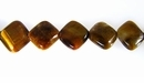 Tiger Eye Diamond Gemstone Beads