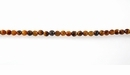 Tiger Eye, Round Faceted Beads 4mm