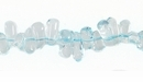 Aquamarine Briolette Beads 4x3-8.5 mm