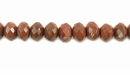 Gold Faceted Rondelle Sandstone Beads 5x8mm