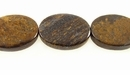 Bronzite Flat Oval Beads 15x20x5mm