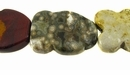 Ocean Jasper Irregular Wave Oval Beads 25x35mm