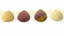 Mookaite Faceted Flat Briolette Beads 10x10x5mm