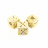 "Whitewood Alphabet Wood Bead 8mm ""X"""